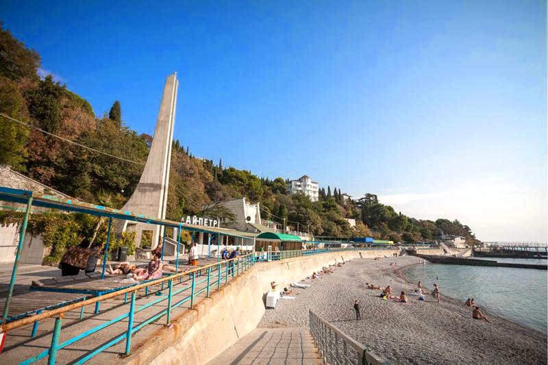 Пляж санатория Ай-Петри Крым